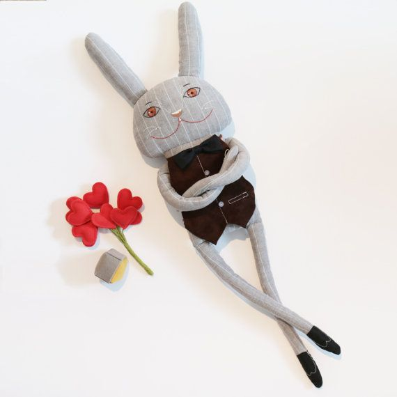 HARE THE SUITOR от ZuzaToys на Etsy