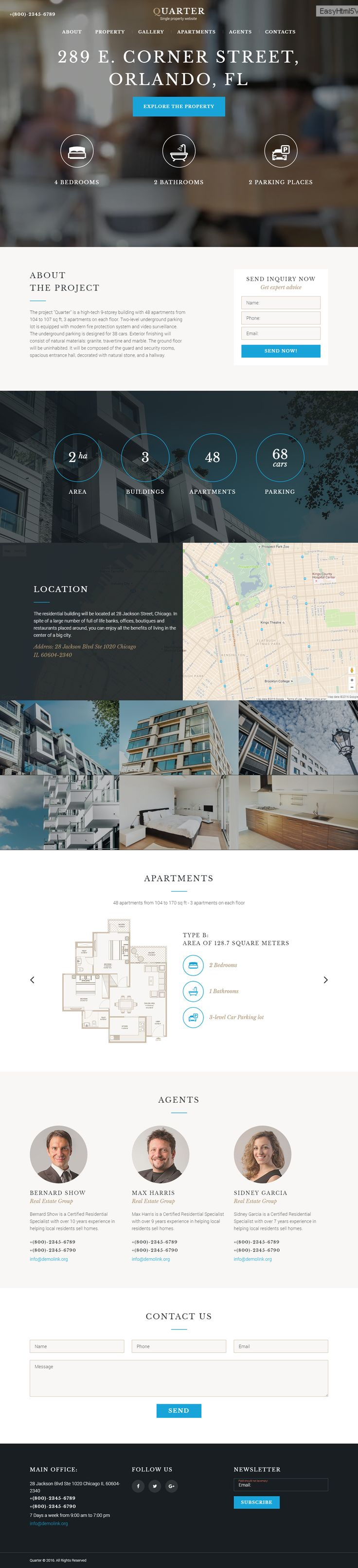 Real Estate Landing Page Template on Behance