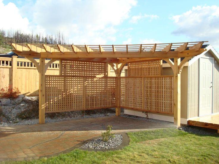 Cedar Fence Three Post Pergola Jergolas Wedding Ideas