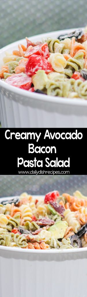 Creamy Bacon Avocado Pasta Salad #SundaySupper via…