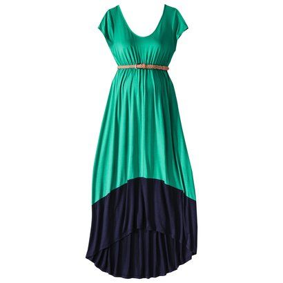 Totally not pregnant, but if I was, this is SO CUTE // Liz Lange® for Target® Maternity Short-Sleeve Maxi Dress - Green