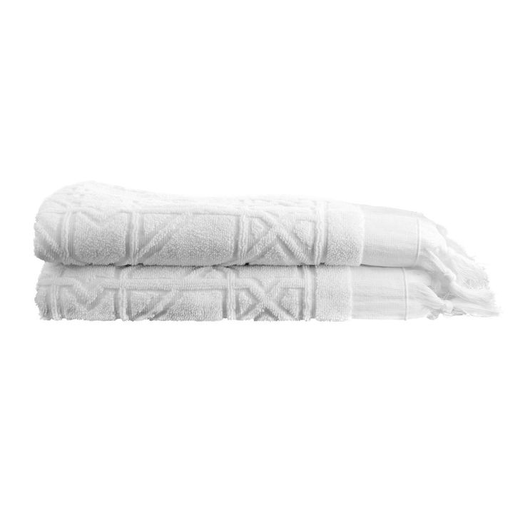 Tine K Home / Bavlněná osuška White Fringe