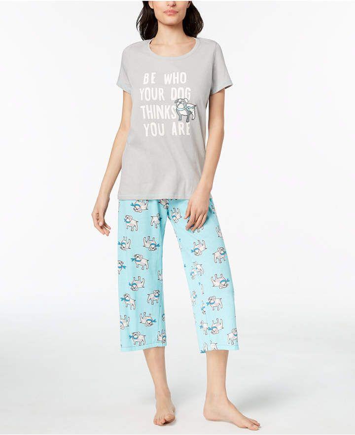 02c301a342e Hue Printed Capri Pajama Set  Printed Hue Capri