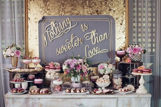 I LOVE this dessert table. Would use the same decor for a bridle shower or even a Spring party.