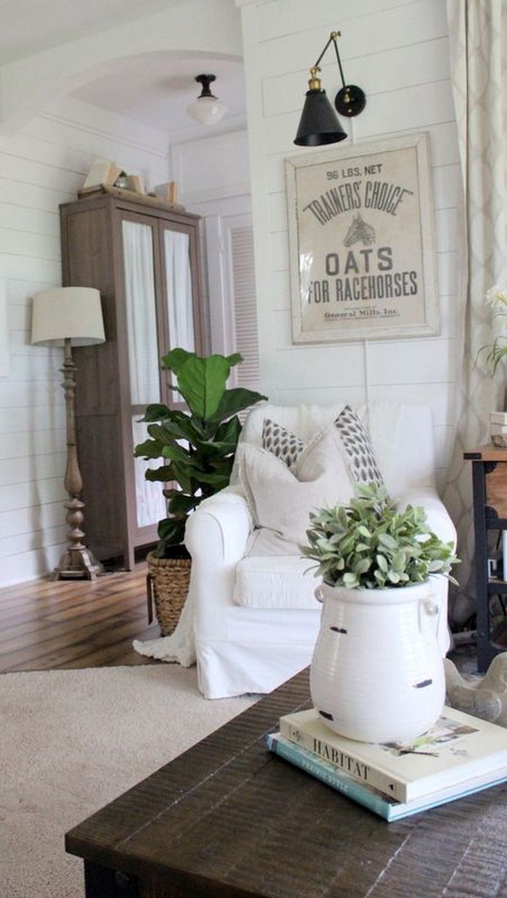 17 best ideas about tobacco basket on pinterest basket - Farmhouse curtains for living room ...