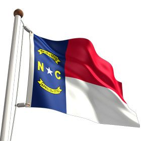 """3' X 5' North Carolina State Flag $15.50 Affirm the North Carolina state motto """"Esse Quam Videri (To be, rather than to seem)"""" and signal CVS Flags to bring the North Carolina state flag to you. We bring you the highest standard of quality North Carolina flags in a variety of sizes made in the U.S.A. Stand for your rights and order a North Carolina state flag today."""