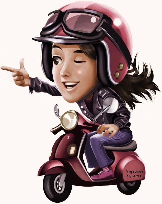Adorable Scooter Artwork Vespa Girl Scooter Girl Vespa