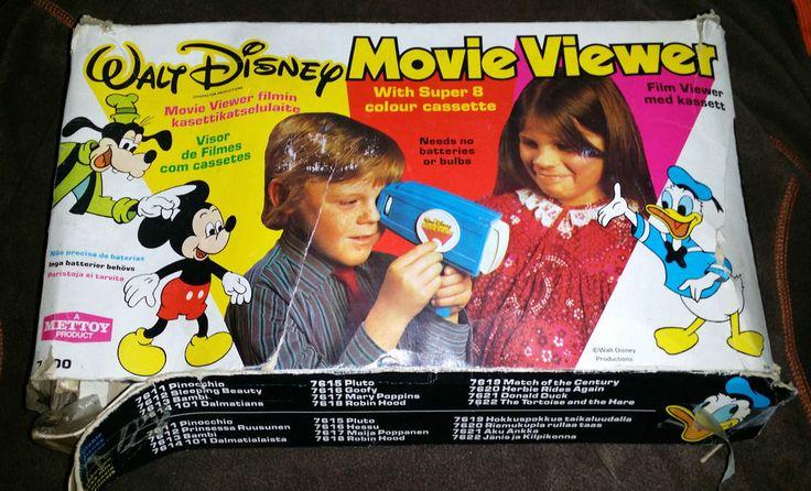 Vintage Walt Disney Movie Viewer And Films + Extra Viewer