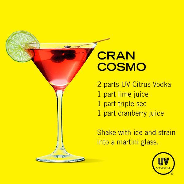 UV Vodka Recipe: Cran Cosmo