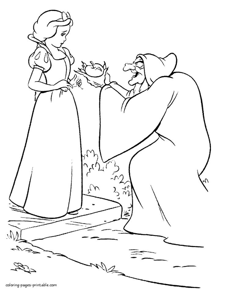 Old Hag And Snow White Coloring Pages