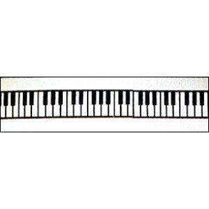 """Piano Keys Ribbon - #9 satin ribbon is 1 1/2"""" wide with a piano key print. Great for music theme party centerpieces, bows, gift baskets and crafts. http://www.awesomeevent.com/Piano-Keys-Ribbon-P496.aspx"""