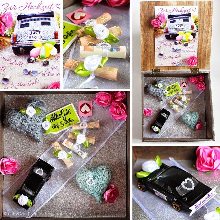 Hochzeit, Geschenk, Geld, Geldgeschenk, Geburtstag, selber machen, DIY, basteln, Box, Bild, Auto, Matchbox, wedding, günstig, schnell, individuell, kreativ, kostenlos, familie