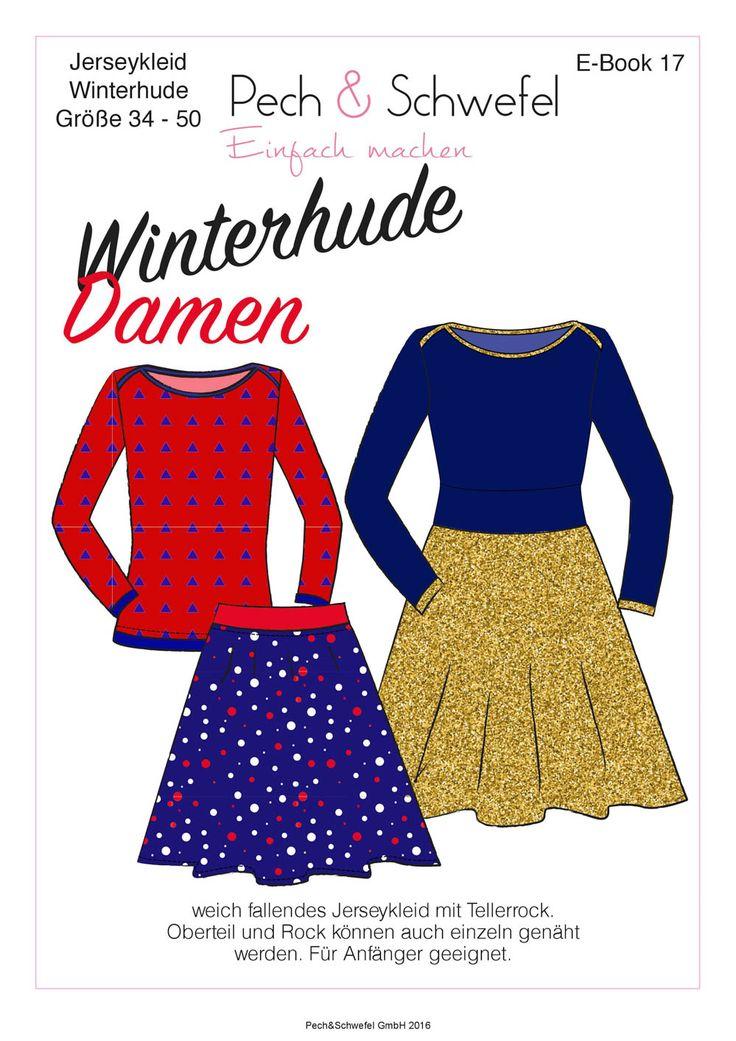 Kostenlose Anleitung und Schnittmuster (bei Facebookgruppe) Winterhude - Kleid mit Tellerrock, Rock oder Shirt für Damen 34 - 50