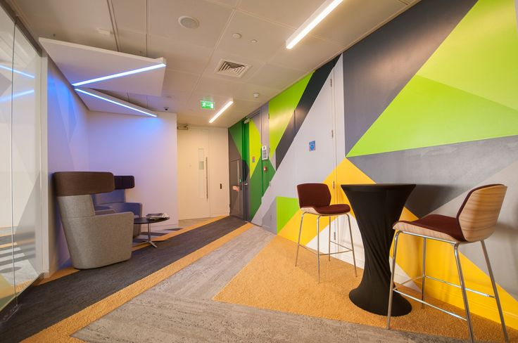 Level 39 - Hand-painted mural for new tech hub offices.