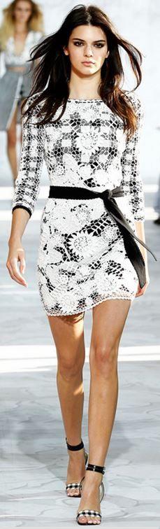 Kylie Jenner's white and black print dress fashion id