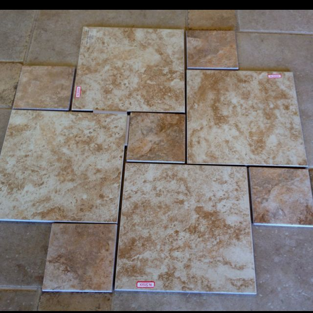 Great Tile Floor Design For Bathrooms Use Two Sizes And Save Money By