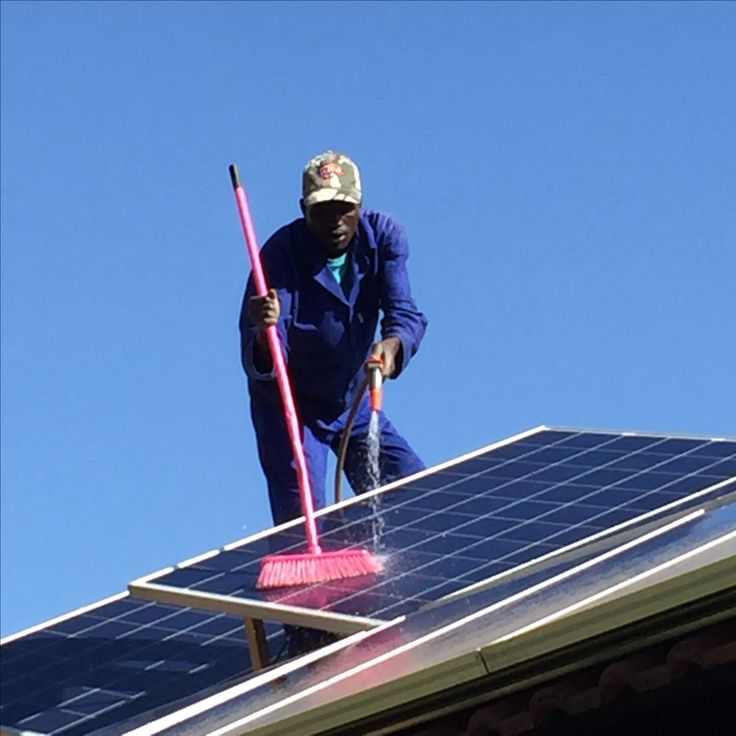 PV (Photovoltaic) panels need regular cleaning and