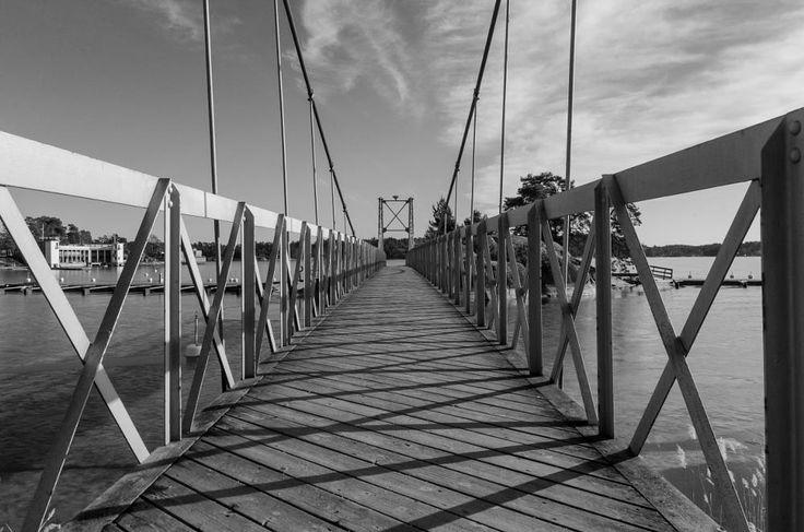 WALKING BRIDGE SALTSJOBADEN / STOCKHOLM / SWEDEN by Mike Back