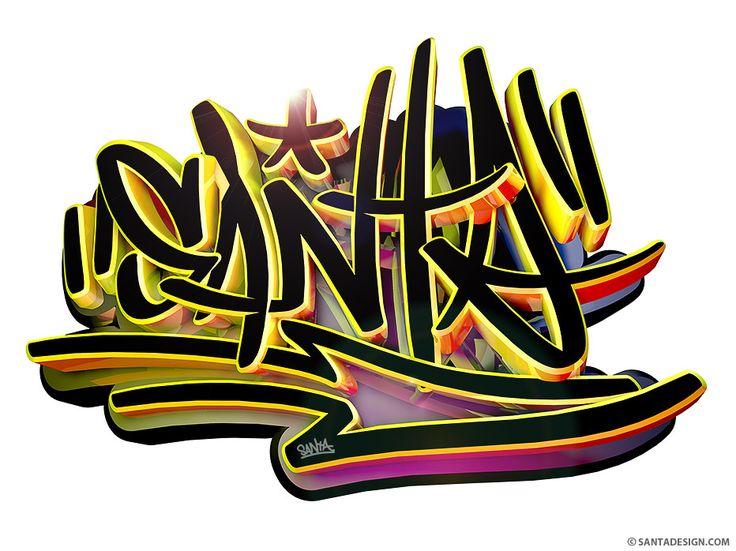 SANTA TAG #SANTA #TAG #TAGGING #GRAFFITI #2D #3D