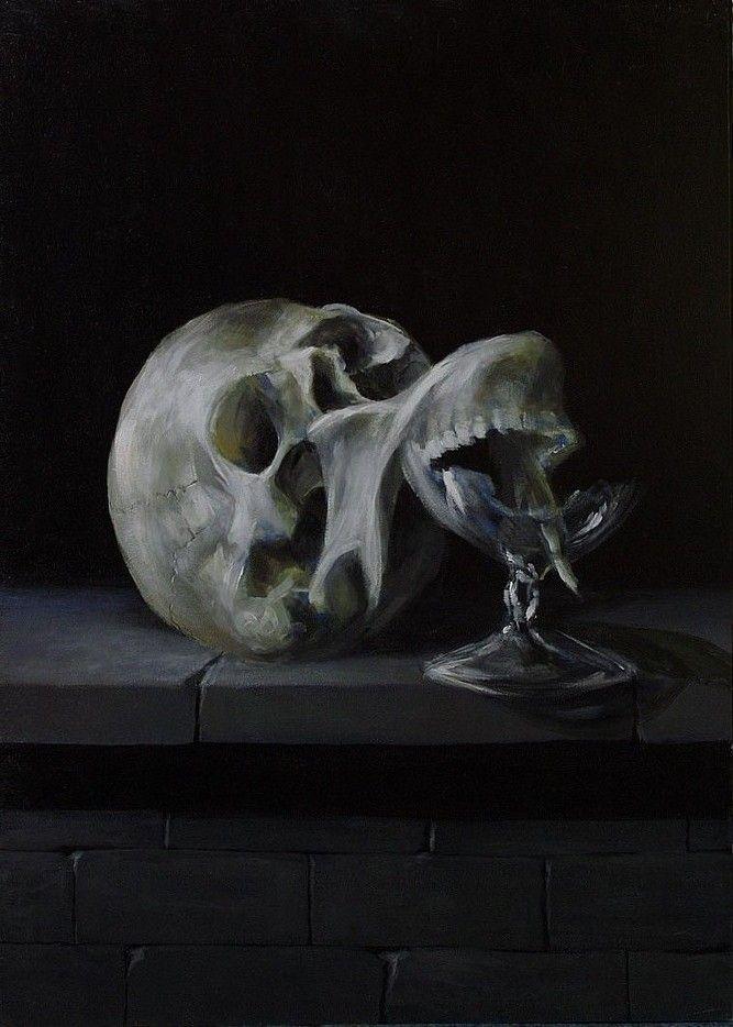 Malarstwo - Vanitas, akryl na płycie / My painting - Vanitas, acrylic on board / 70x50 cm, 2013. http://pawgalmal.blogspot.com