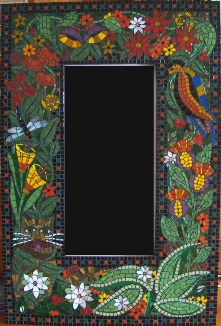 224 best mosaic square frames mirrors images on pinterest for Mosaic mirror