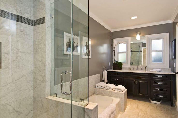 Suzie jeff lewis design modern bathroom with charcoal for Jeff lewis bathroom design ideas