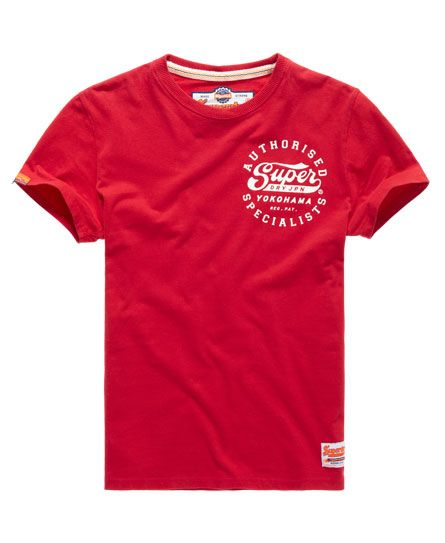 Superdry Authorised Specialists T-Shirt in Rich Scarlet