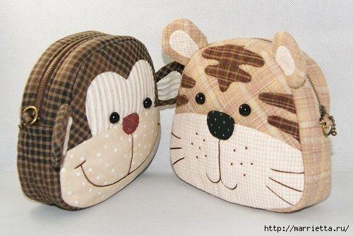 Confeccionamos sin bolso párr ONU Niño. Tigre y el mono (1) (500x335, 95Kb)