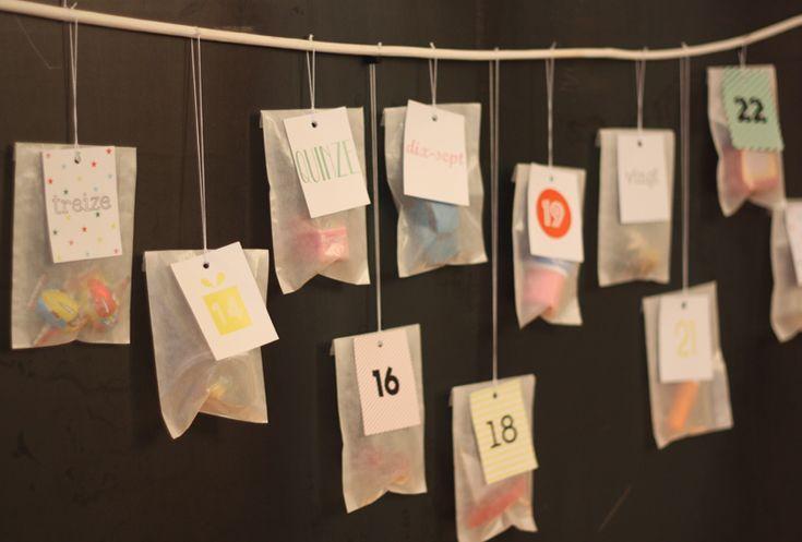 Calendrier de l'Avent Bonton | Bonton Advent Calendar | with printable templates