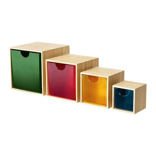 IKEA PS 2012 Drawer, set of 4 IKEA These boxes are perfect for storing your desk accessories, hair clips, jewelry or other small items.