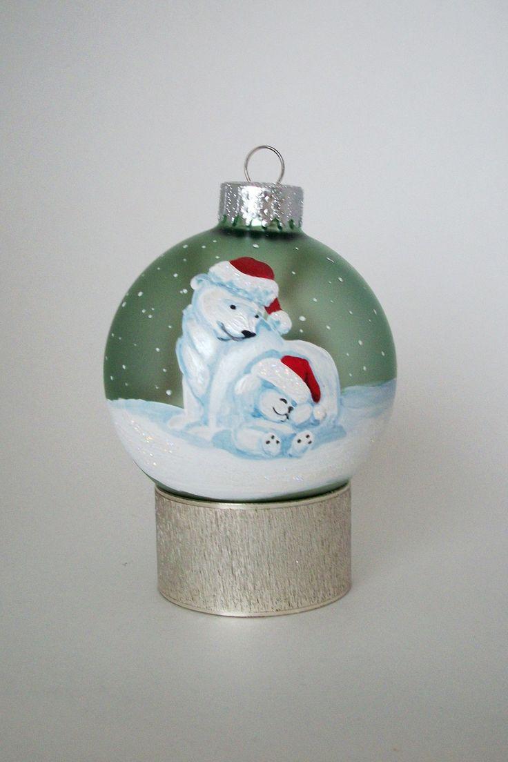 Marvelous 163 Best Hand Painted Christmas Ornaments Images On Pinterest Easy Diy Christmas Decorations Tissureus
