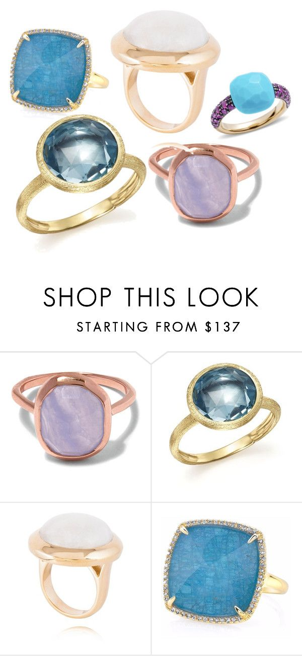 """Bold single stone Rings"" by mateobrown-jewellery on Polyvore featuring Monica Vinader, Marco Bicego and Pomellato"