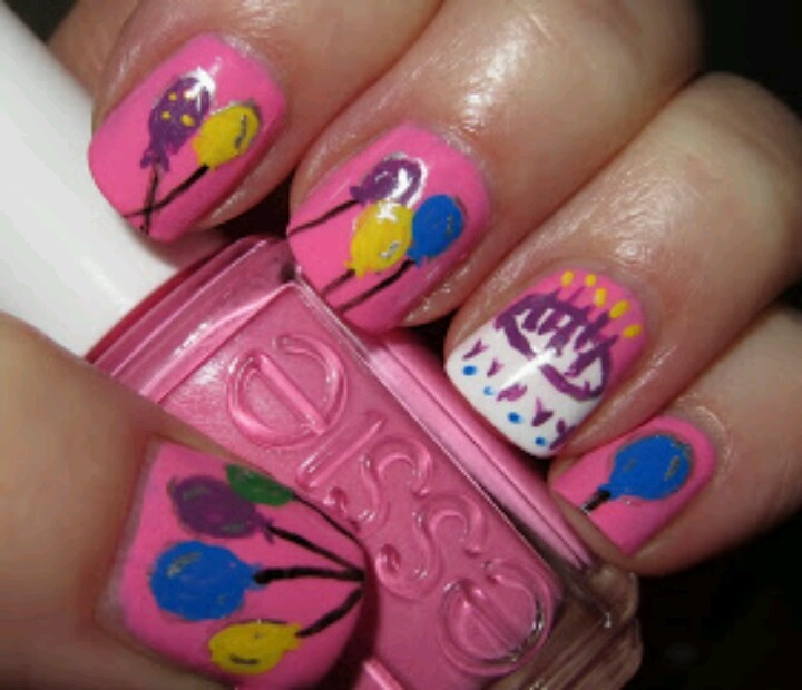 Nail Design Cakes: 57 Best Nails (Birthday) Images On Pinterest