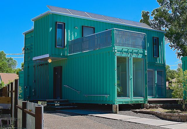 Shipping container house in flagstaff az usa by derek ellis via flickr shipping containers - Container homes usa ...