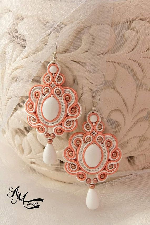 Soutache earrings by AMdesignSoutache on Etsy