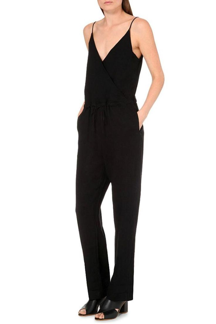 A spaghetti strap, faux wrap, full length romper in a great linen blend. Perfect for a casual day or dressed up for an evening out.   Linen Faux-Wrap Jumpsuit by Rag & Bone. Clothing - Jumpsuits & Rompers - Jumpsuits Canada