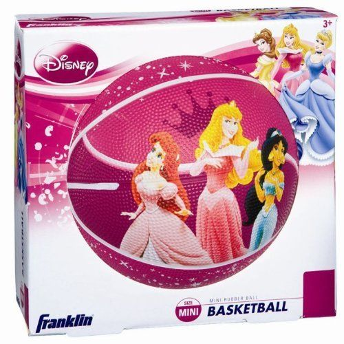 Franklin Sports Disney Princess Mini Rubber Basketball #19246 by Franklin Sports. $17.99. From the Manufacturer                Our Mini Rubber Basketball features a durable high tack rubber cover with polyester winding for excellent shape retention. It has a long lasting air retention bladder. It's smaller size makes this basketball easy for the younger children to catch and throw. Fun graphics!                                    Product Description                Our Di...