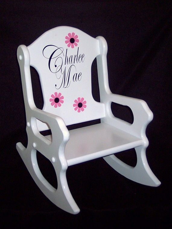 Childs Rocking Chair  personalized by weaverwood on Etsy, $59.95