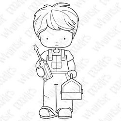 Mr. Fix It digi stamp by Whimsie Doodles