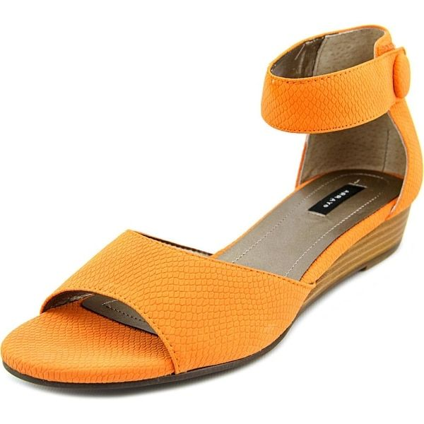 Array Havana Women N/S Open Toe Synthetic Orange Wedge Sandal