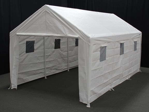Garage Tents Inside : Hercules portable garage canopy with sidewalls and