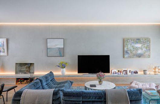 Private house in richmond minimalistisch wohnbereich london