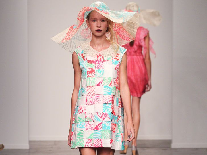 "Ivana Helsinki Channels ""Madison County"" at Spring 2014 NY Fashio..."