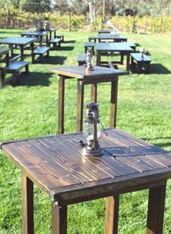 Rustic Events High Top Cocktail Reception Tables In 2019