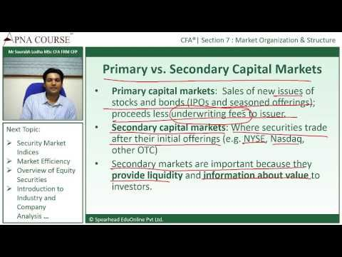 Learn the Difference between Primary vs. Secondary Capital markets  Learn more concepts related to CFA here.  https://www.apnacourse.com/course/cfa-1