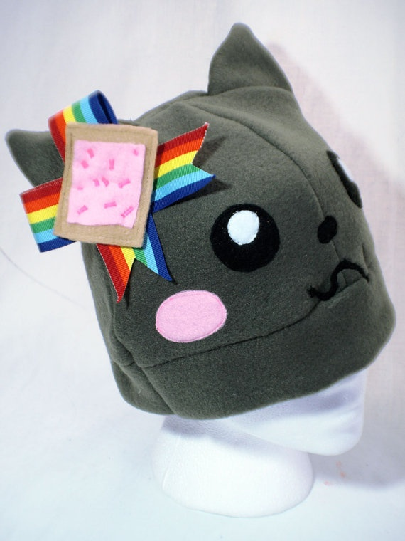 Nyan Cat Hat, reminds me of Jenna Marbles!