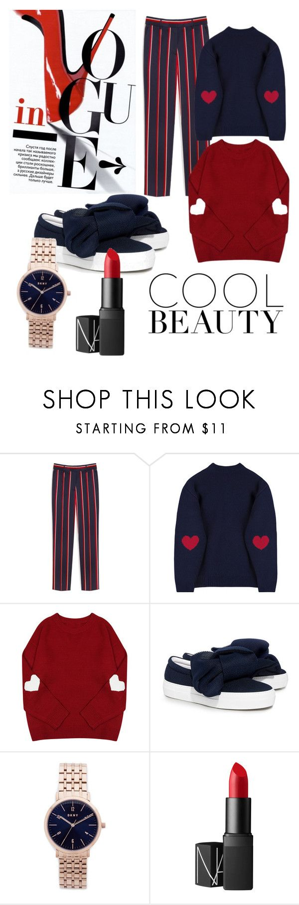 """""""Keep it cool"""" by warwickbrowng ❤ liked on Polyvore featuring Mulberry, Joshua's, DKNY and NARS Cosmetics"""