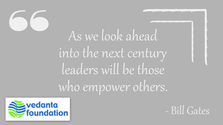 #Empower #Future #Leaders #QuoteOfTheDay #Quotes #Vedanta #India