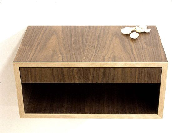 modern nightstand floating bedroom table wall by