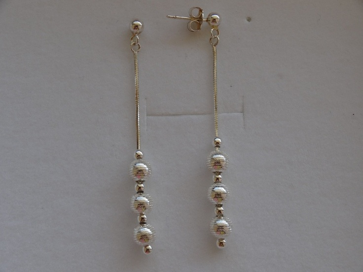 $23 Italian Sterling Silver Earrings, info@bijuterie-online.ro.